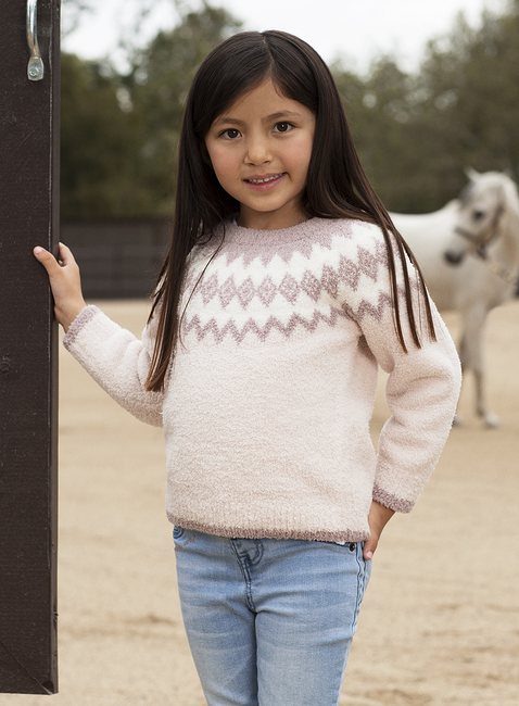COZYCHIC® TODDLER GIRLS NORDIC PULLOVER