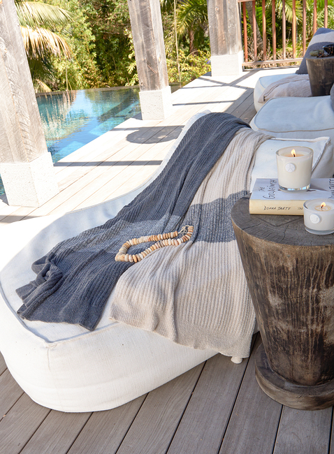 COZYCHIC LITE® RIBBED BLANKET WITH HEATHERED STRIPE