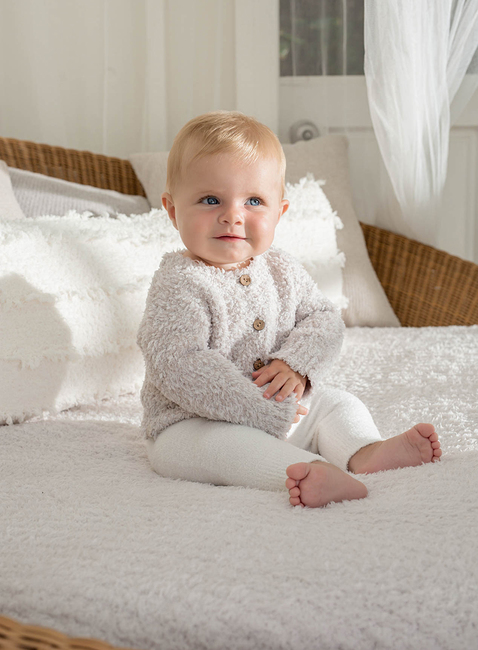 COZYCHIC® INFANT HEATHERED CARDIGAN