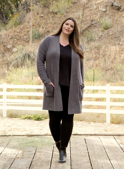 COZYCHIC LITE® PLUS SIZE LONG WEEKEND CARDI
