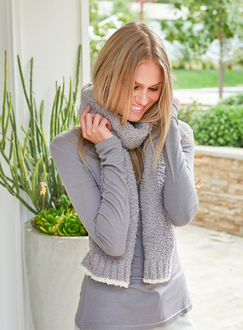 COZYCHIC® SCARF WITH CONTRAST TIP