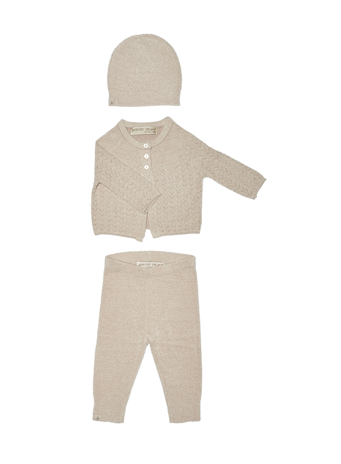 COZYCHIC ULTRA LITE® INFANT POINTELLE CARDI, PANT & HAT SET