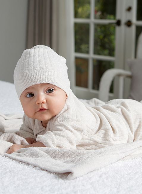 COZYCHIC ULTRA LITE® INFANT RIBBED CARDI, PANT & HAT SET