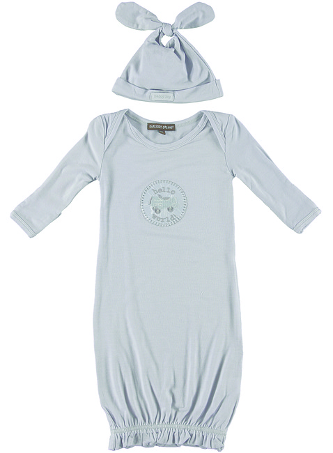 INFANT GOWN + HAT DELUXE SET