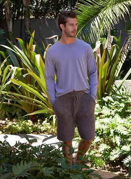 MALIBU COLLECTION® MEN'S LONG SLEEVE WASHED CREW